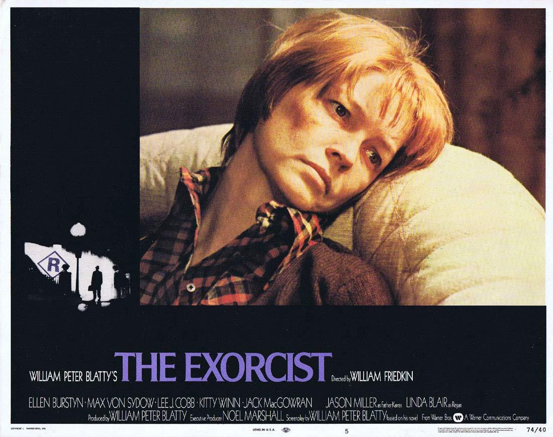 THE EXORCIST Original Lobby Card 5 Linda Blair Horror