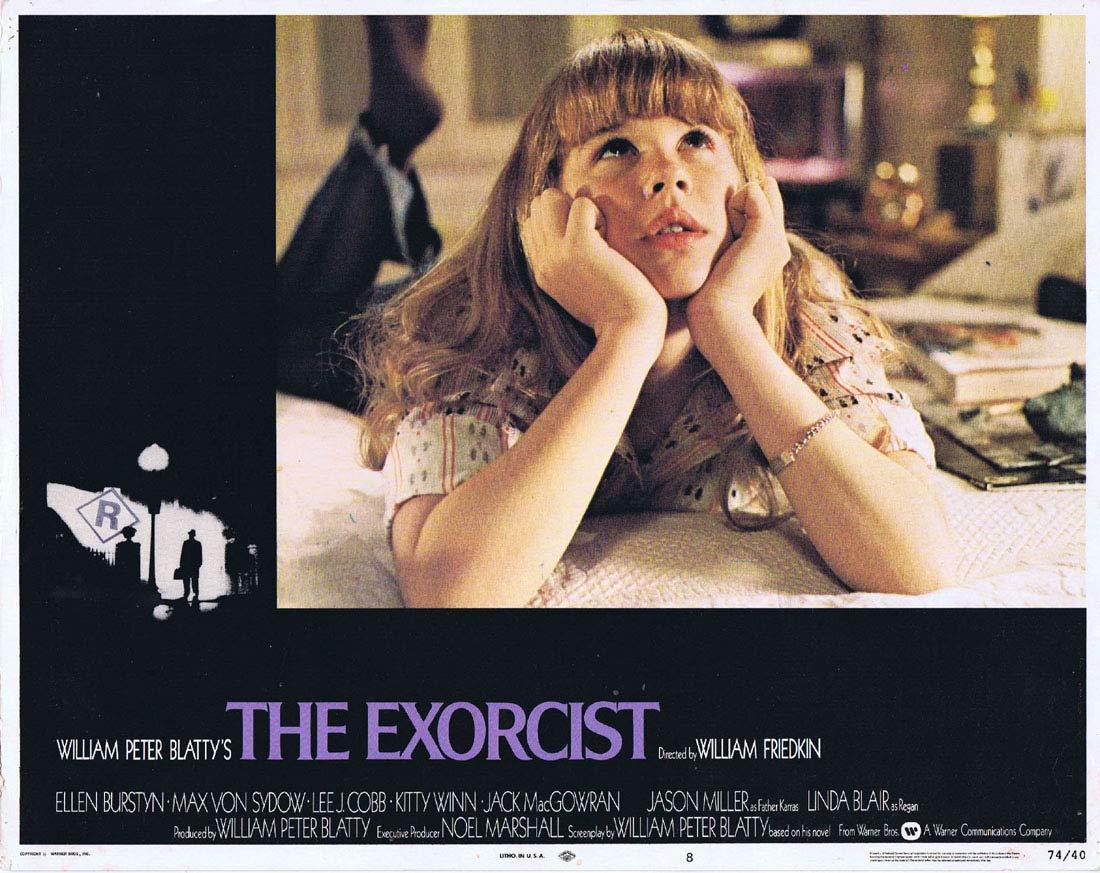 THE EXORCIST Original Lobby Card 8 Linda Blair Horror