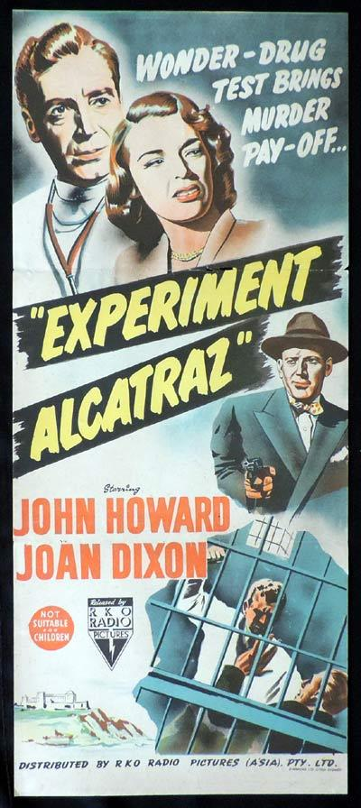 EXPERIMENT ALCATRAZ Original Daybill Movie Poster RKO Film Noir