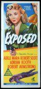 EXPOSED Original Daybill Movie Poster Adele Mara Film Noir