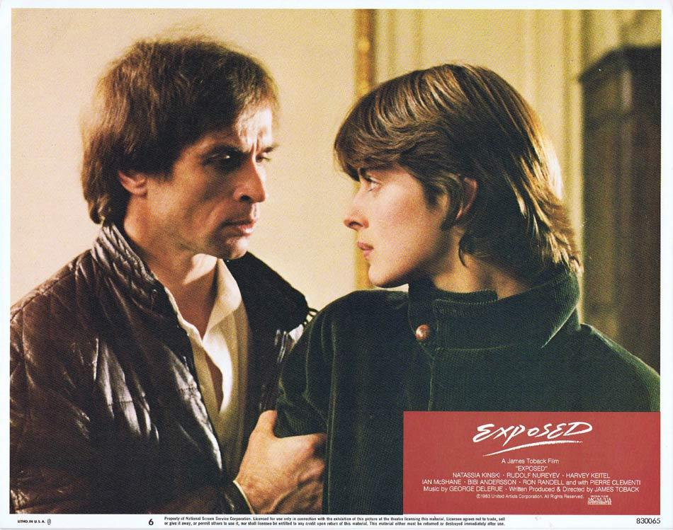 EXPOSED Lobby Card 6 Nastassja Kinski Rudolf Nureyev Harvey Keitel