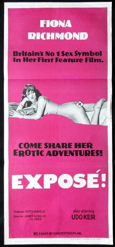 EXPOSE Original Daybill Movie Poster FIONA RICHMOND Sexploitation Horror Udo Keir