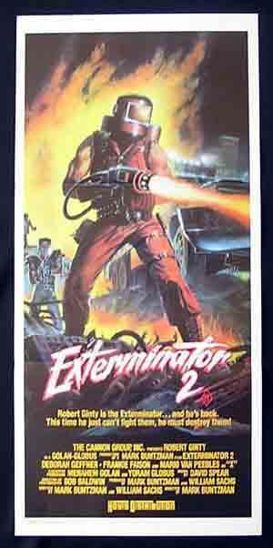 EXTERMINATOR 2 Original daybill Movie poster Robert Ginty Mario Van Peebles