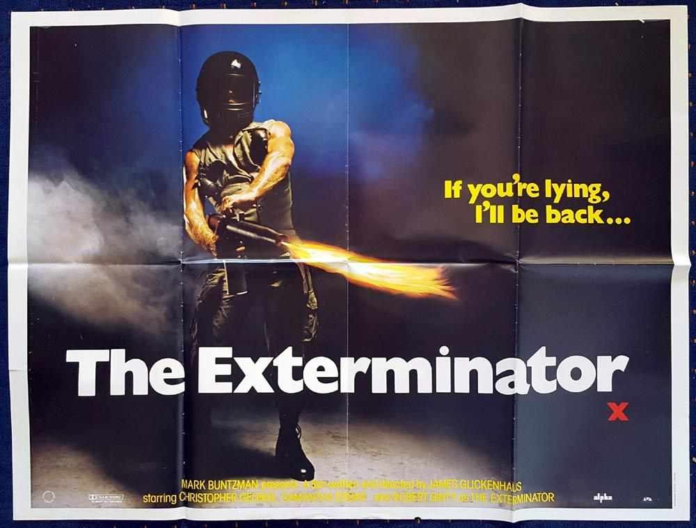 THE EXTERMINATOR Original British Quad poster Robert Ginty