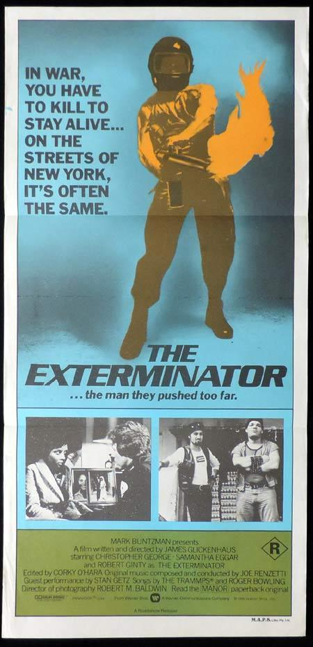 THE EXTERMINATOR Original Daybill Movie Poster Robert Ginty