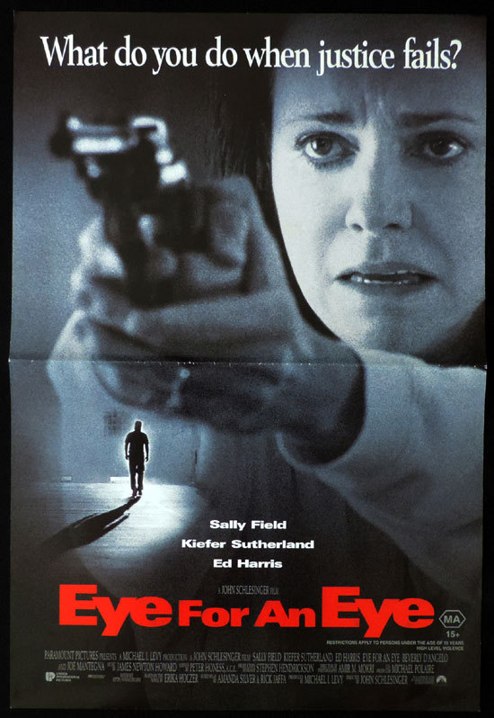 EYE FOR AN EYE Daybill Movie poster Sally Field Keifer Sutherland Ed Harris