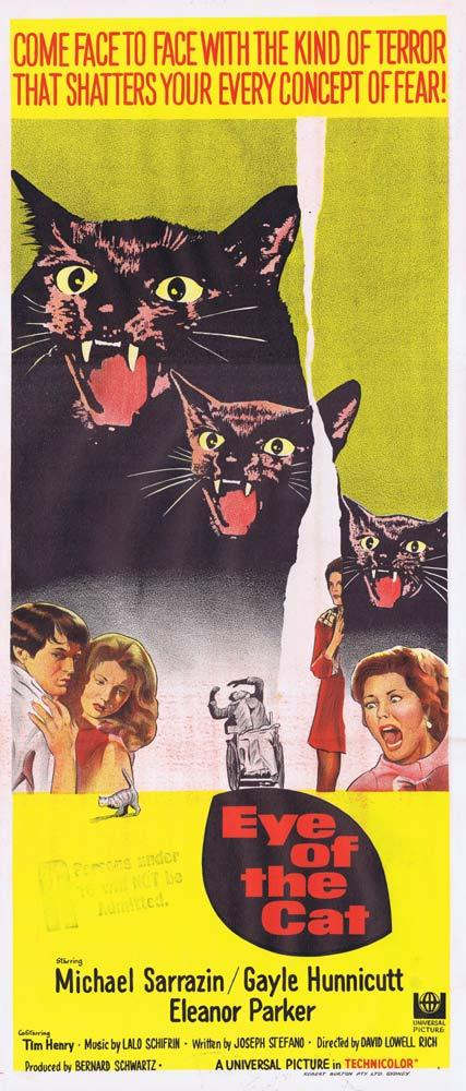 EYE OF THE CAT Daybill Movie Poster Michael Sarrazin