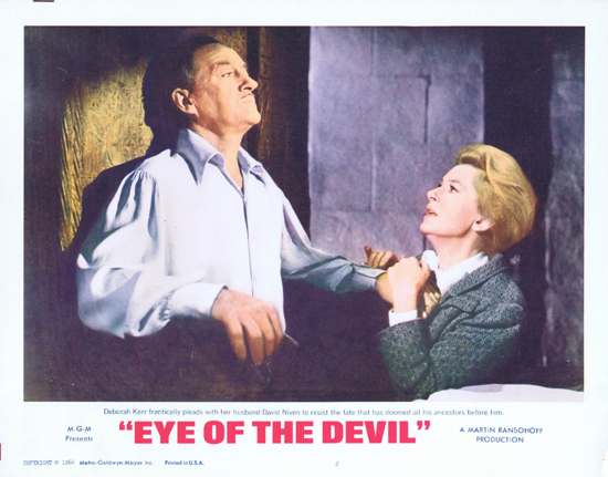 EYE OF THE DEVIL Lobby Card 2 David Niven Deborah Kerr