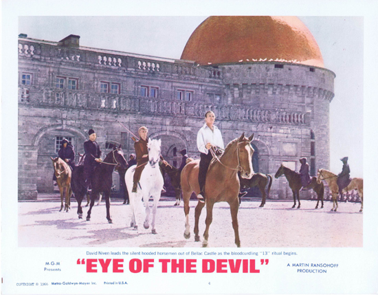 EYE OF THE DEVIL Lobby Card 4 David Niven Deborah Kerr
