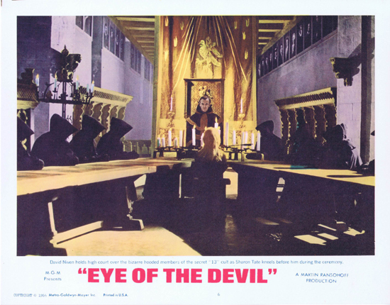 EYE OF THE DEVIL Lobby Card 6 David Niven Sharon Tate