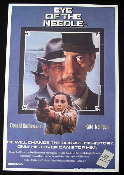 EYE OF THE NEEDLE Original One sheet Movie poster
