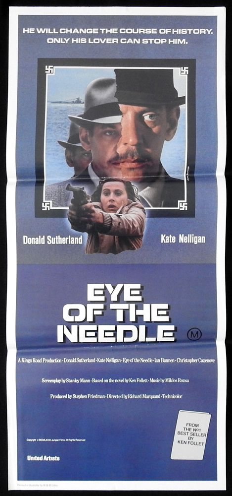EYE OF THE NEEDLE Original Daybill Movie Poster Donald Sutherland Kate Nelligan