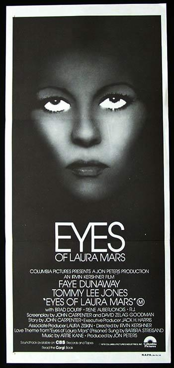 EYES OF LAURA MARS Original Daybill Movie Poster Faye Dunaway