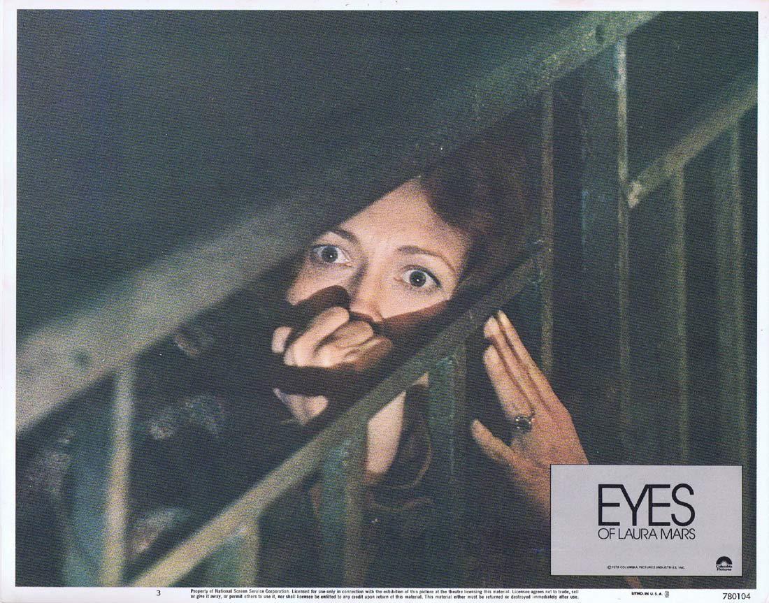 EYES OF LAURA MARS Lobby Card 3 Faye Dunaway