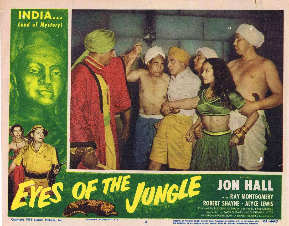 EYES OF THE JUNGLE Lobby Card 2 Jon Hall Ray Montgomery Victor Millan
