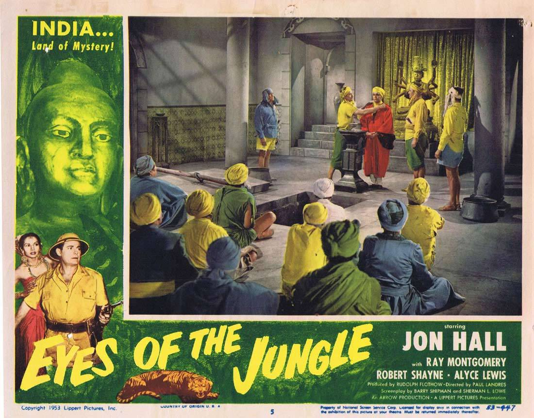 EYES OF THE JUNGLE Lobby Card 5 Jon Hall Ray Montgomery Victor Millan