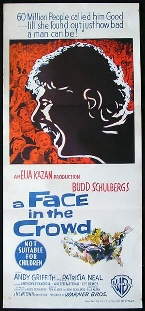 A FACE IN THE CROWD Daybill Movie Poster Elia Kazan Andy Griffith
