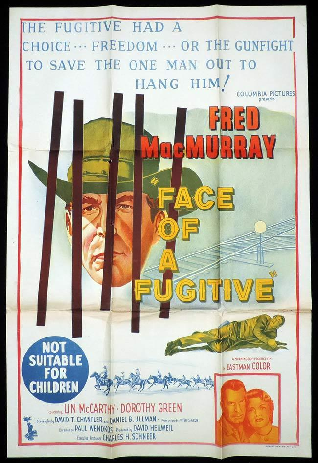 FACE OF A FUGITIVE One Sheet Movie Poster Fred MacMurray