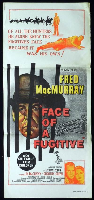 FACE OF A FUGITIVE Daybill Movie Poster Fred MacMurray