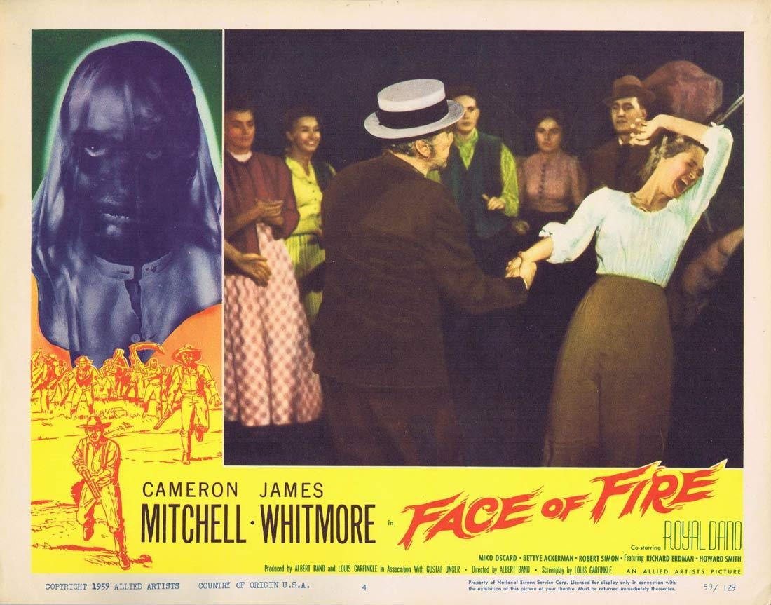 FACE OF FIRE Original Lobby Card 4 Cameron Mitchell James Whitmore