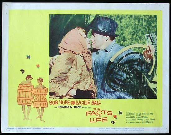 THE FACTS OF LIFE 1961 Lucille Ball Bob Hope Lobby card 6