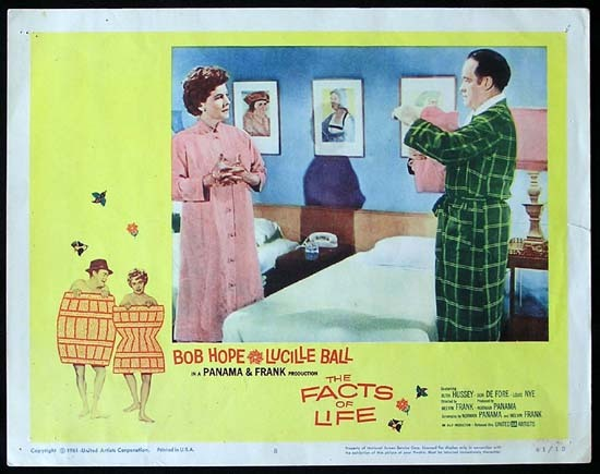 THE FACTS OF LIFE 1961 Lucille Ball Bob Hope Lobby card 8
