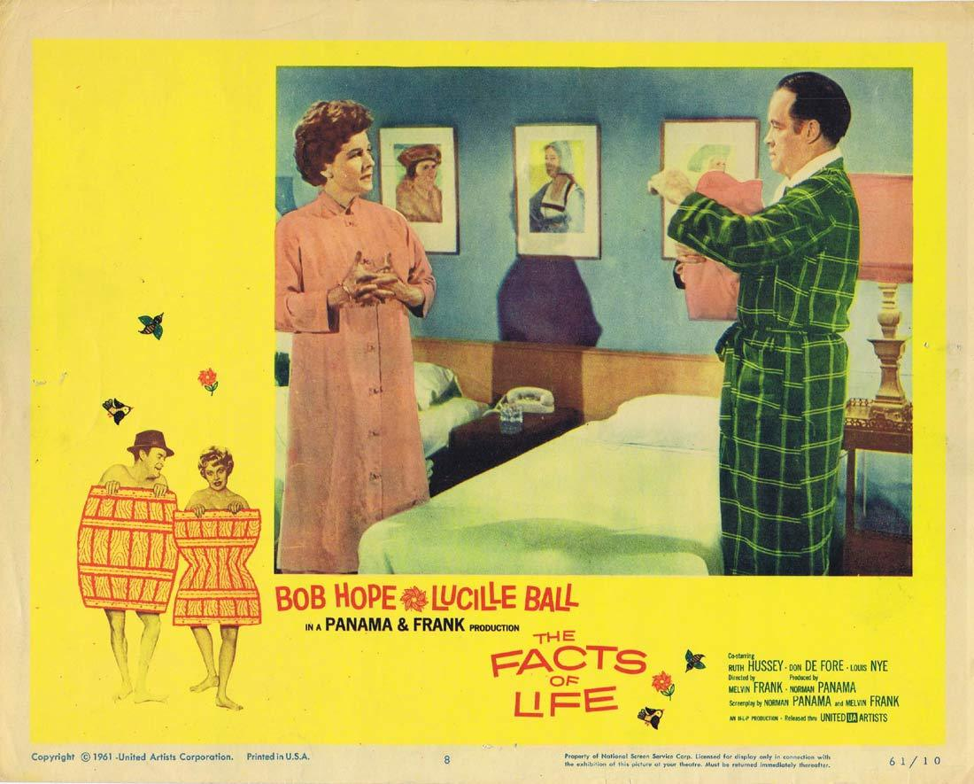 FACTS OF LIFE Original Lobby Card 8 Bob Hope Lucille Ball