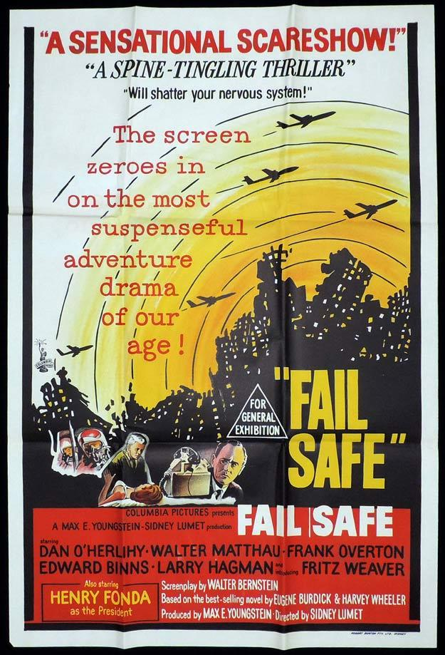 FAIL SAFE One Sheet Movie Poster Henry Fonda