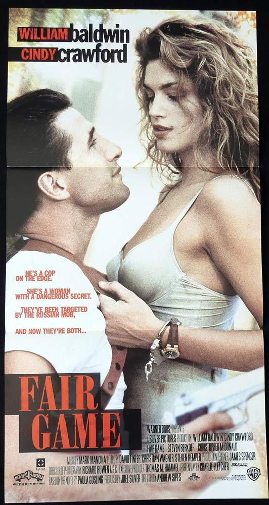 FAIR GAME Original Daybill Movie Poster Cindy Crawford William Baldwin