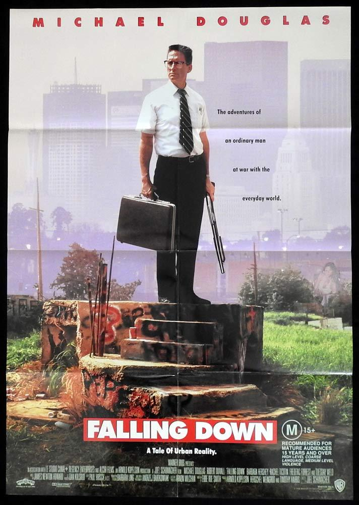 FALLING DOWN Original One sheet Movie Poster Michael Douglas Robert Duvall