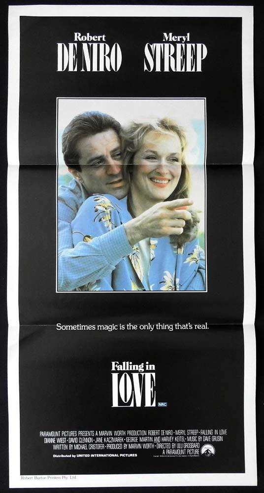 FALLING IN LOVE Original Daybill Movie poster ROBERT DENIRO Meryl Streep