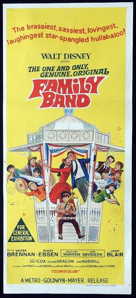 FAMILY BAND Original Daybill Movie Poster Walter Brennan Buddy Ebsen