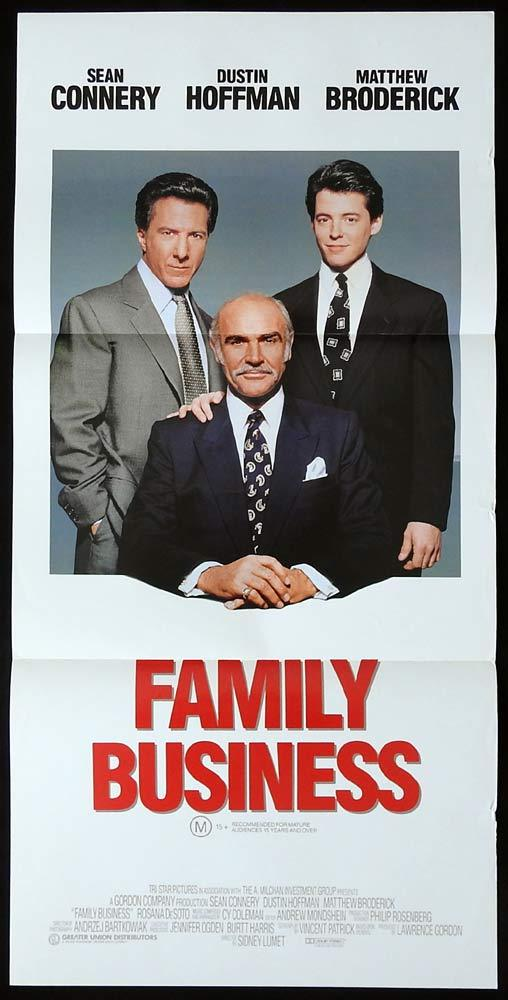 FAMILY BUSINESS Original Daybill Movie poster Matthew Broderick Sean Connery