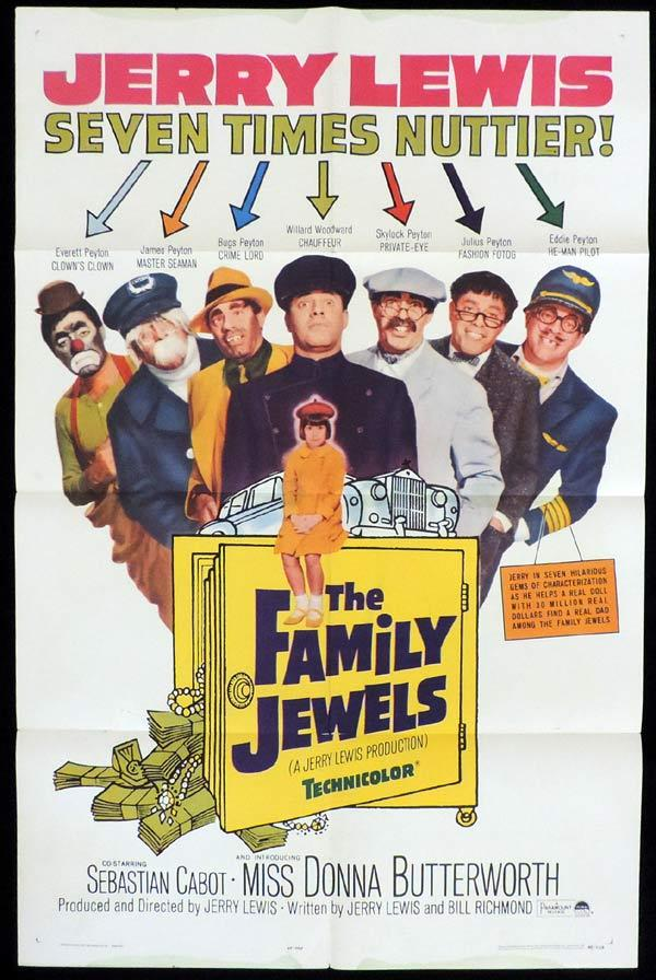 THE FAMILY JEWELS One Sheet Movie Poster Jerry Lewis