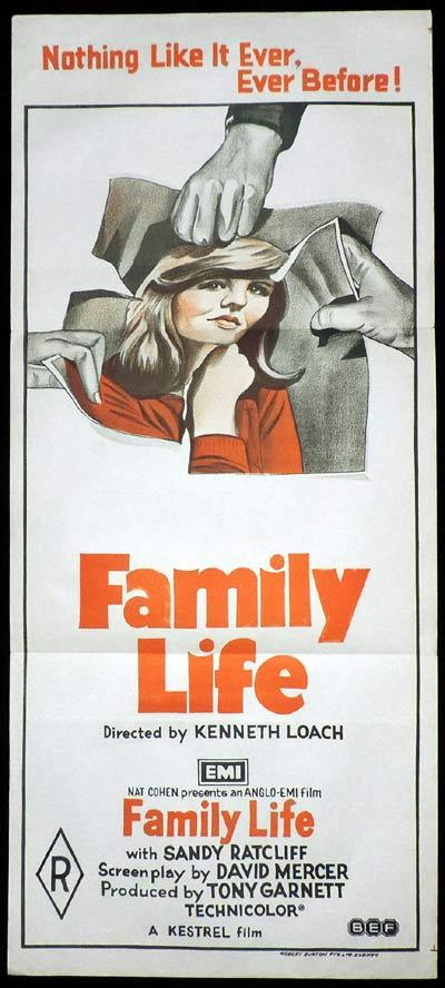 FAMILY LIFE Daybill Movie Poster Ken Loach