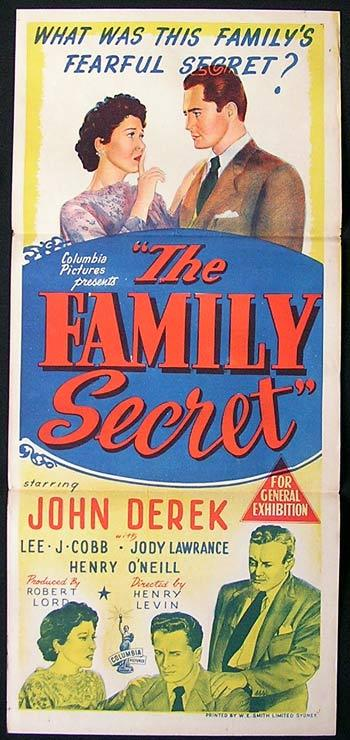 FAMILY SECRET Movie Poster 1971 John Derek ORIGINAL Australian Daybill