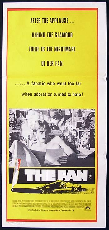 THE FAN 1981 Lauren Bacall James Garner Daybill Movie Poster