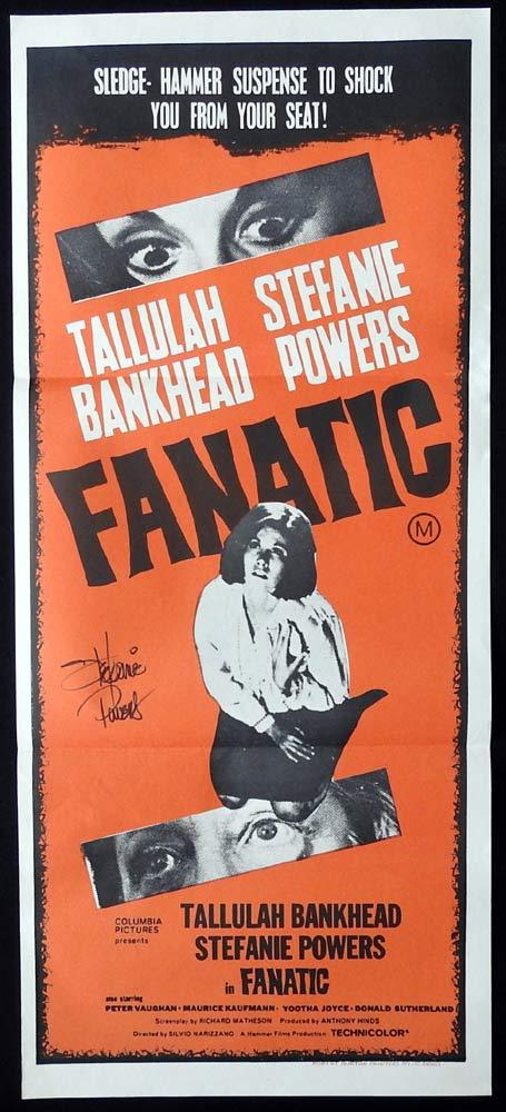 FANATIC Original Daybill Movie Poster Autograph Stefanie Powers Hammer Horror