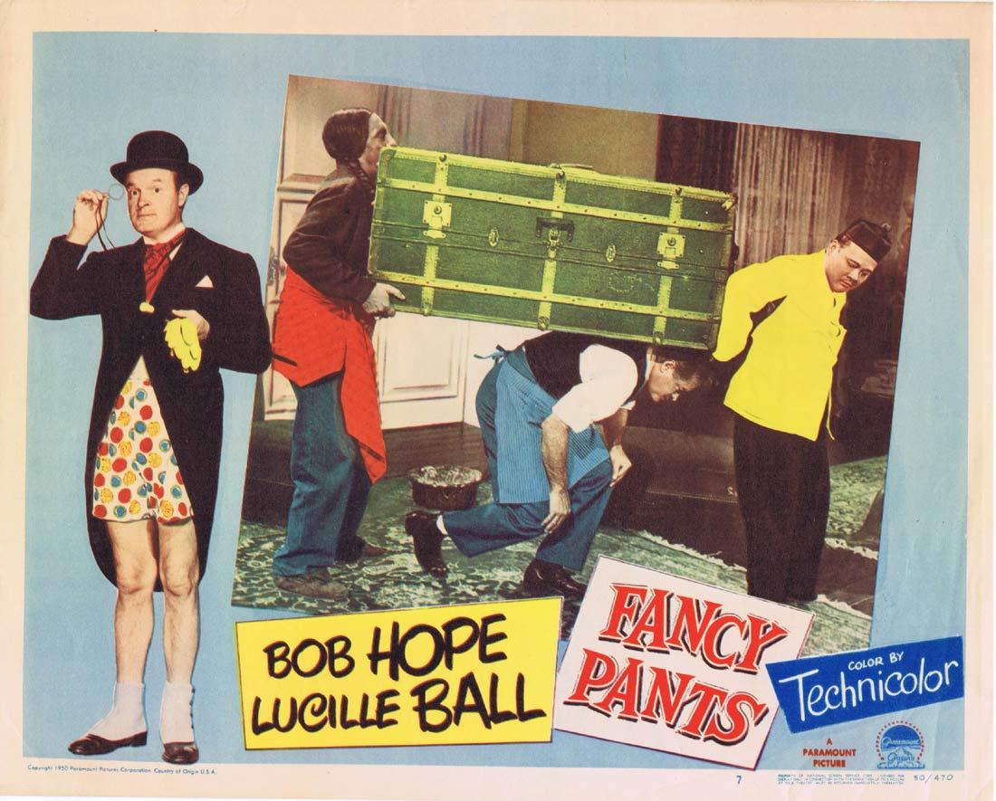FANCY PANTS Original Lobby Card 7 Bob Hope Lucille Ball