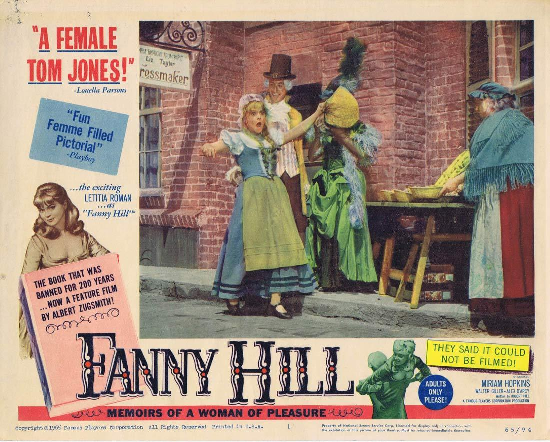 FANNY HILL Original Lobby Card 1 Miriam Hopkins Alexander D'Arcy