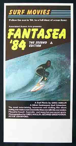 FANTASEA '84 Original Daybill Movie poster Surfing Greg Huglin