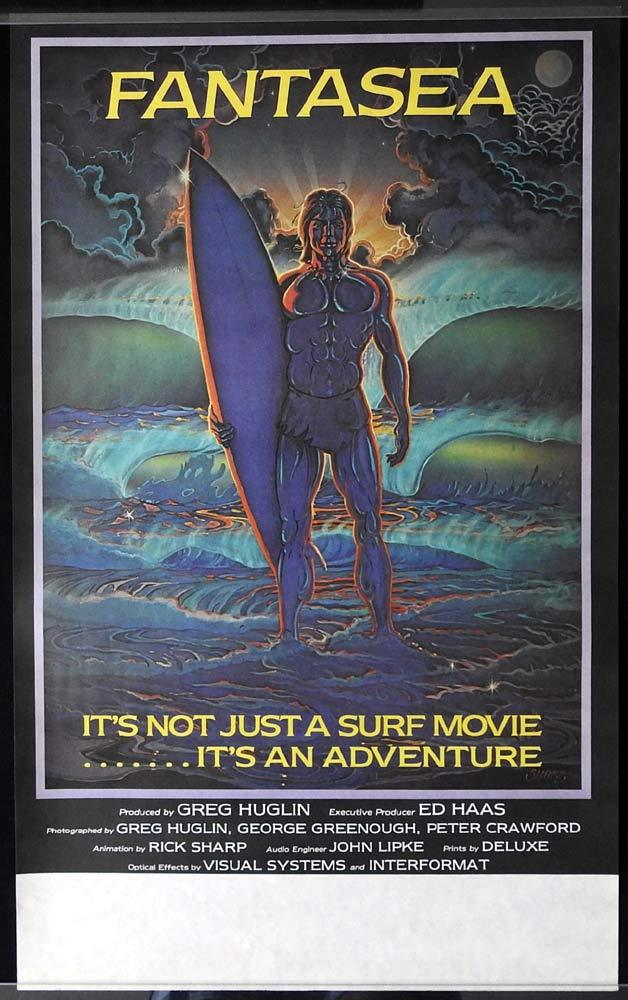 FANTASEA Original Movie Poster SURFING Greg Huglin George Greenough