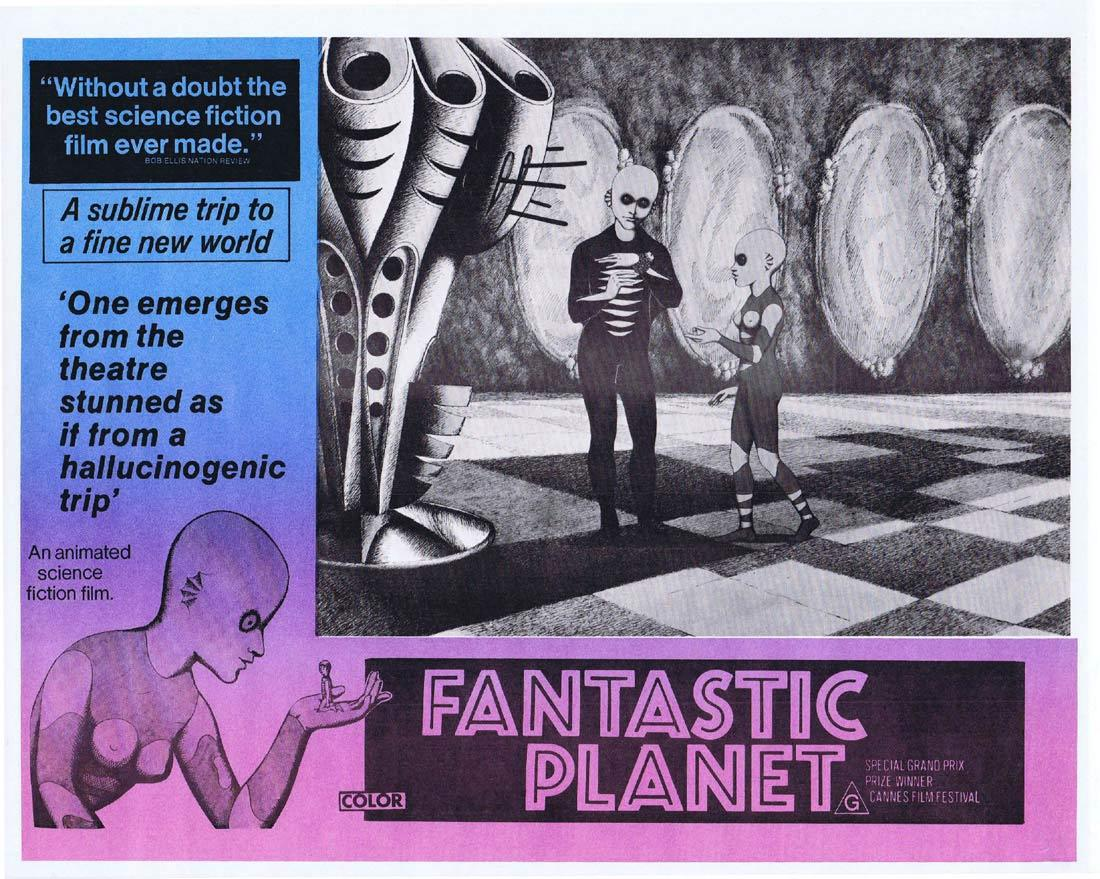 FANTASTIC PLANET Rare Australian Lobby Card 1 Animated Science Fiction