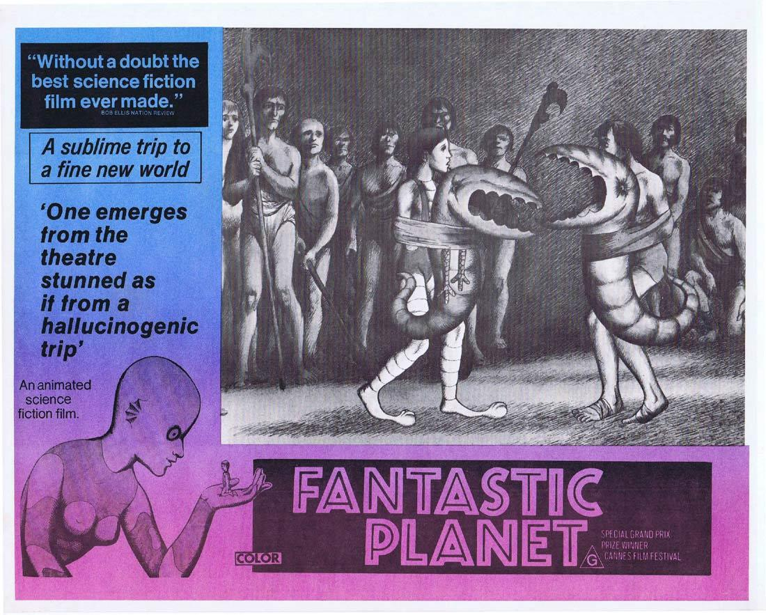 FANTASTIC PLANET Rare Australian Lobby Card 3 Animated Science Fiction