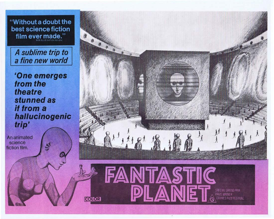 FANTASTIC PLANET Rare Australian Lobby Card 4 Animated Science Fiction