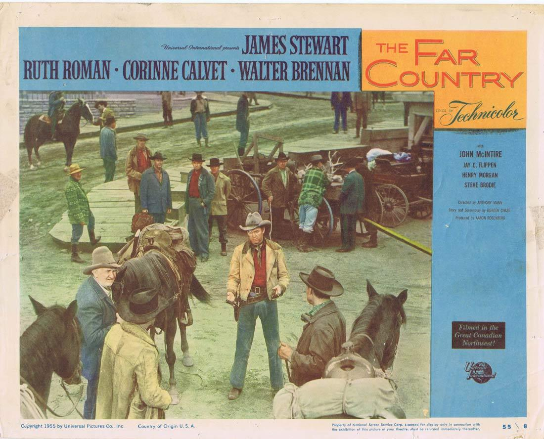 THE FAR COUNTRY Vintage Lobby Card 7 James Stewart Ruth Roman Corinne Calvet