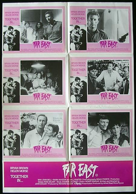 FAR EAST '82 Bryan Brown Helen Morse ORIGINAL Photo sheet Movie poster
