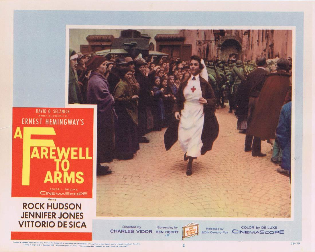 A FAREWELL TO ARMS Lobby Card 2 Rock Hudson Jennifer Jones Elaine Stritch