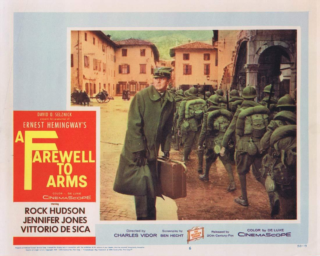 A FAREWELL TO ARMS Lobby Card 6 Rock Hudson Jennifer Jones Elaine Stritch