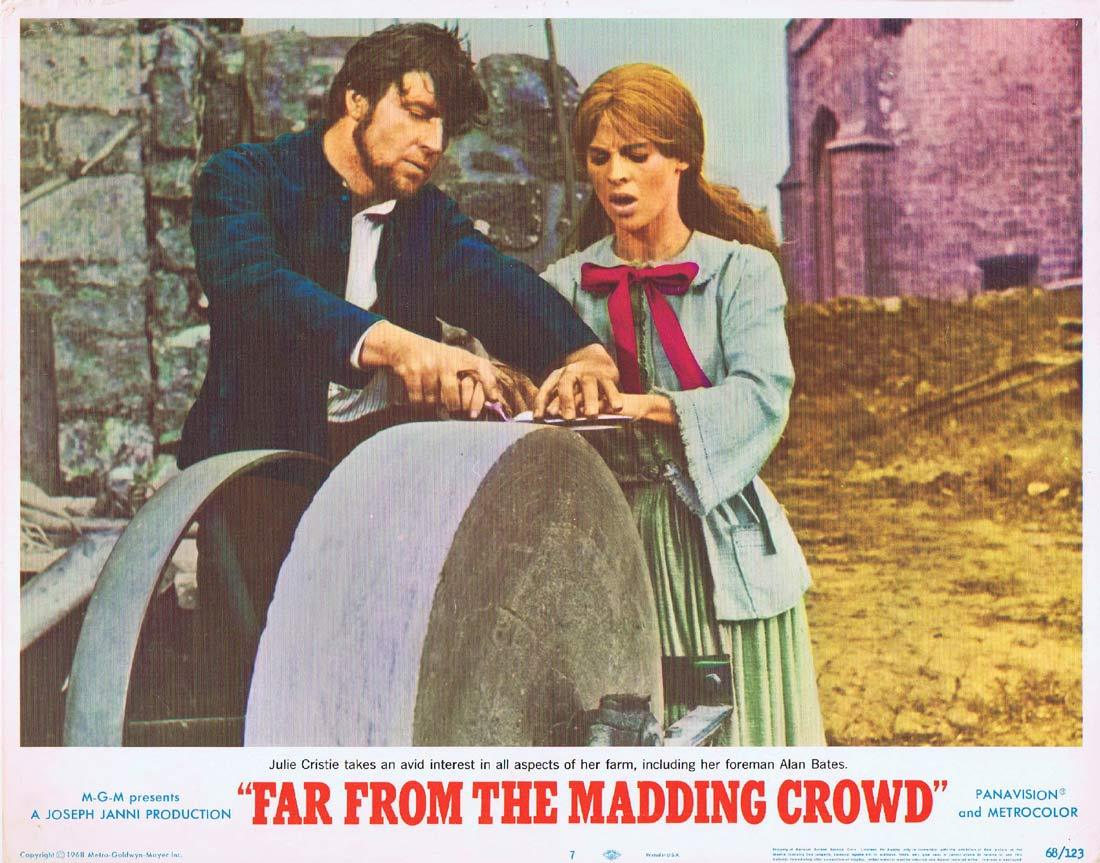 FAR FROM THE MADDING CROWD Lobby Card 3 Julie Christie Terence Stamp